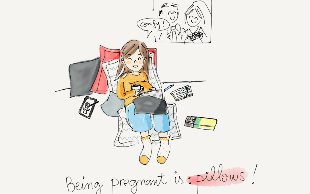 Being pregnant is…pillows