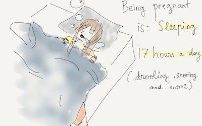 Being pregnant is…sleeping