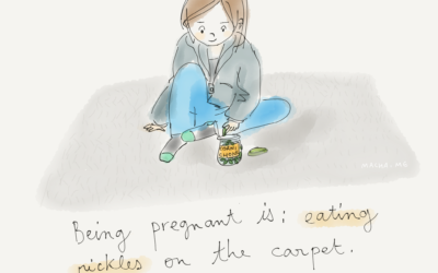 Being pregnant is…pickles !