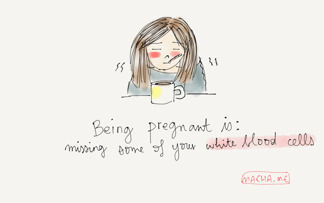 Being pregnant is…getting a little bit weak